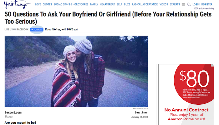 50 Questions To Ask Your Boyfriend or Girlfriend (before